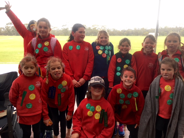 Happy participants at the River to Bay Sports Carnival where Bremer Bay students compete with Gairdner Primary students annually.